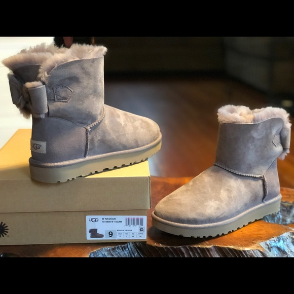 54061df37fe UGG Naveah Mini Bow Boots 1012808 W/SGAM NWT